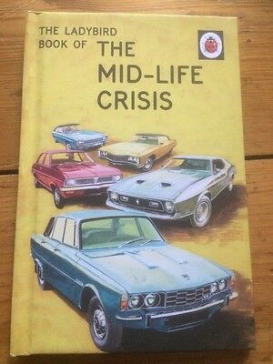 The Mid-Life Crisis A Ladybird Book Retro for Adults Very funny gift New