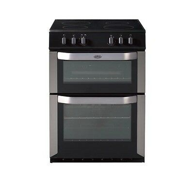 Belling FSE60DO 60cm Electric Cooker - Double Ovens, Grill & Ceramic Hob