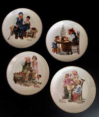 REDUCED! Set of 4 Norman Rockwell Collectible Plates, 1984; Rockwell Museum Inc.