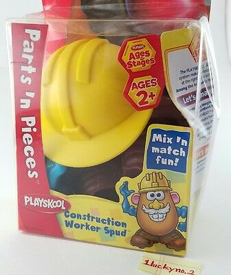 Mr. Potato Head Parts N' Pieces Construction Worker Spud Toy NIB