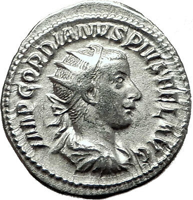 GORDIAN III 239AD Rome Authentic Genuine Ancient Silver Roman Coin ROMA i59118