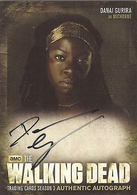 "Walking Dead Season 3 - A8 Danai Gurira ""Michonne"" Auto / Autograph Card"