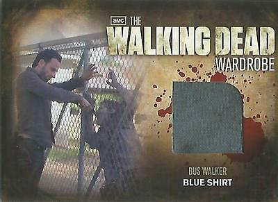 "Walking Dead Season 2 - M33 ""Bus Walker's Blue Shirt"" Wardrobe Binder Card"