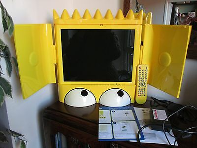 V. Rare Bart Simpson Television With Remote & Instructions Excellent Condition