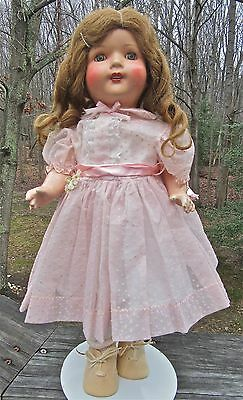 "Antique Vintage 1920 Effanbee Rosemary Doll 17"" Composition Clothes"