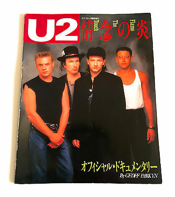 U2 Flame The Touch JAPAN PHOTO HISTORY BOOK 1988 Viva Rock Magzine Special Issue