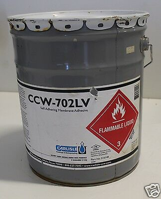 Lot Of (10)- 5 Gal Carlisle Ccw-702Lv Roofing Self Adhering Membrane Adhesive