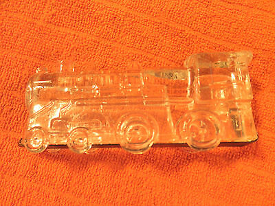 Vintage Clear Glass Train Locomotive Engine Candy Container Dispenser Nice!