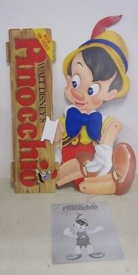 Original VHS Release of Disney's Pinocchio Video Store Display Marionette Nice