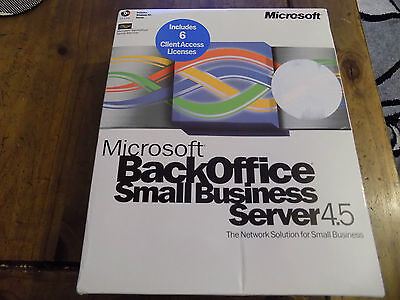 Microsoft Back Office Small Business Server 4.5 Windows NT Server