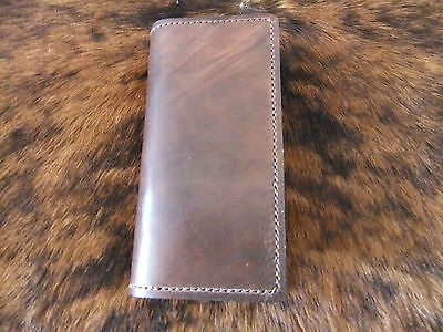 "Hand tooled leather ""Roper"" style wallet/checkbook cover"