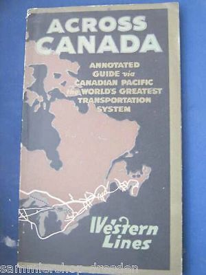 RI1012 Western lines Across Canada annoted guide to the country served Railways