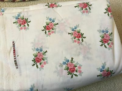 Laura Ashley  vintage floral Curtain fabric 9.5 metres