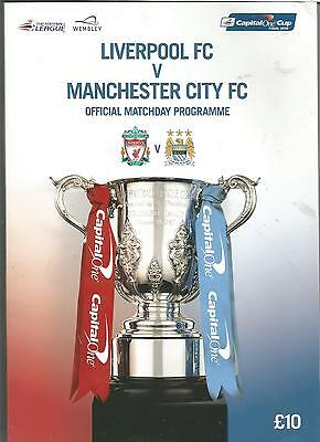 Manchester City-Liverpool Fc Capital One Cup Final 2016 Official Programme