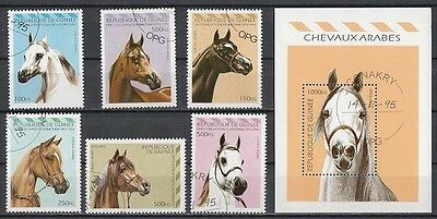 Horse Guinea S/S+6 stamps 1995
