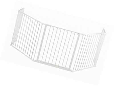 BabyDan Hearth Gate/ Configure (Extra Large, White)