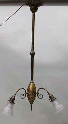 Antique Brass Three Lights Hanging Light