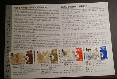 Hong Kong 1987 Anniversary of Medical /Nethersole *See Promotion in Description*