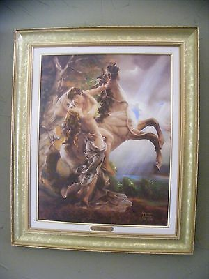 "Giuseppe Armani ""The Embrace"" Wall Art Canvas Painting Framed Signed Numbered"