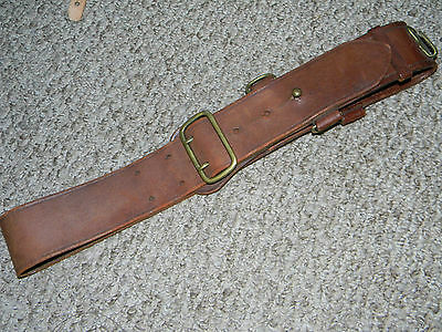 Ww2 British Army Office's Sam Browne Leather Equipment Belt