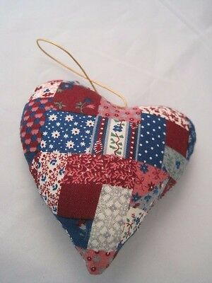 Hand Made Quilted Heart Ornament
