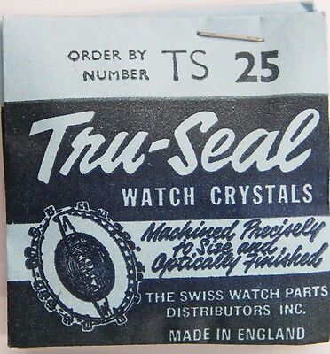 Tru-Seal  TS 25 Replacement Watch Crystal 28.5mm NOS