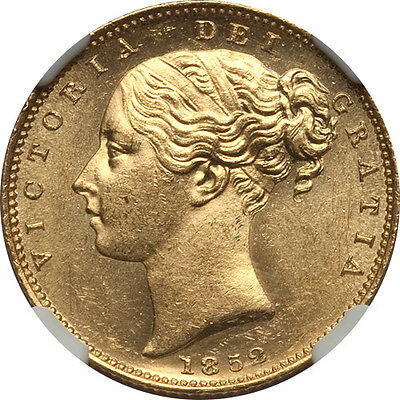 Great Britain 1852 Victoria gold Sovereign NGC MS-64