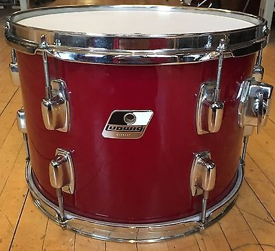 Vintage 1980's Ludwig Rocker 9x13 Rack Tom Red