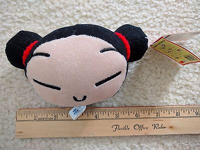 """Pucca Plush Red Doll Figure 6"""" Window Hanging Rear View Car Suction Cup Decor"""