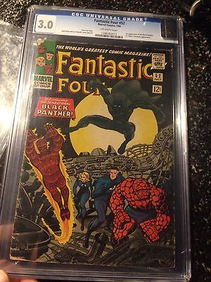 Fantastic Four 52 CGC 3.0 First Appearance Black Panther