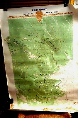 VINTAGE BOY SCOUTS  Philmont Cimmarron New Mexico  map  large wall size 40X28