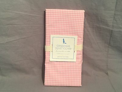 Pottery Barn Kids Pink Gingham Toddler Duvet Cover