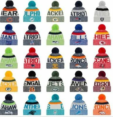 NFL & NRL New 2017 American Football & Rugby Bobble Beanie Hat Patriots Falcons