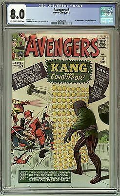 Avengers 8 - CGC 8.0 Off White to White Pages - 1st Kang the Conqueror