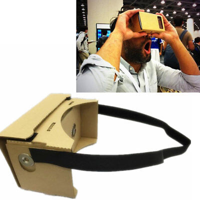 AU Google Cardboard Virtual Reality 3D Glasses for Smartphone VR Headsets NFC