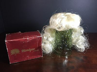 Vintage Monique Doll Wig - White Light Blonde Hair - Long Wavy Size 8 - NEW