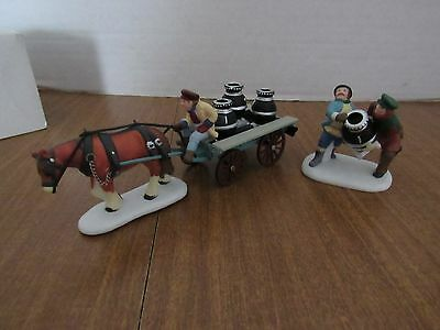 Dept 56 Heritage Village #56593 A New Potbellied Stove For Christmas Wagon