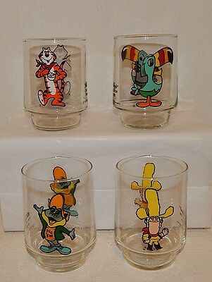 Set 1977 Kellogg's COLLECTOR SERIES Promotional Glasses~13 oz. Juice Stackables