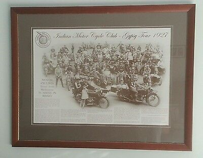 Vintage Indian Motorcycle Poster - Gypsy Tour 1927 - Scout, Chief, 4our