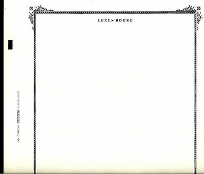 12 Blank SCOTT SPECIALTY pages for LUXEMBOURG in Pristine Condition