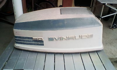 Evinrude 50hp 1973 cowling good weathered condition