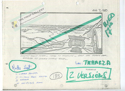 Original Production Used RAIDERS OF THE LOST ARK Storyboard copy WITH NOTES prop