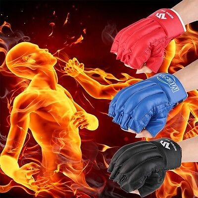 Archery Protect Glove 3 Fingers Pull Bow arrow Leather Shooting Gloves SV