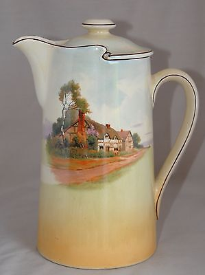 Rare - Vintage Royal Doulton ENGLISH COTTAGE D4987 Lidded Table/Hot Water Jug 1L