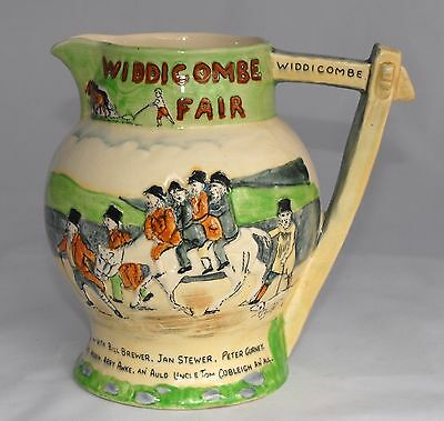 Large Vintage Crown Devon Musical Jug WIDDICOMBE FAIR - Tankard/Bar Decor