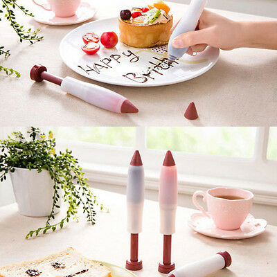 Silicone Cake Cookie Pastry Icing Decorating Syringe Cream Chocolate Plate Pen