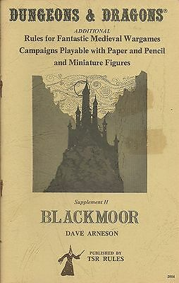 Blackmoor - Supplement II, Original D&D, TSR, VGC