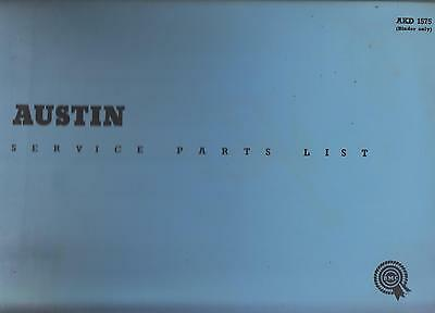 Austin Metropolitan Series Iv ( 1959 - 1961 ) Original Factory Parts Catalogue