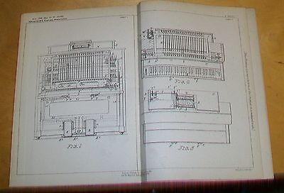 Automatic Combination Player Piano Patent. White,meriden, Connecticut, Usa. 1896