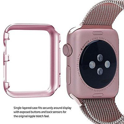 PINK ALUMINUM Hard Cover Protector Case Bumper For iWatch 42MM APPLE WATCH 1